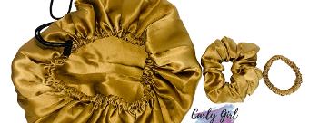 Curly Girl Method NL: 100% zijden scrunchie/bonnet